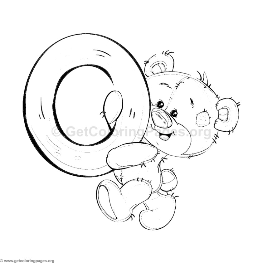 letter o coloring pages - 3289