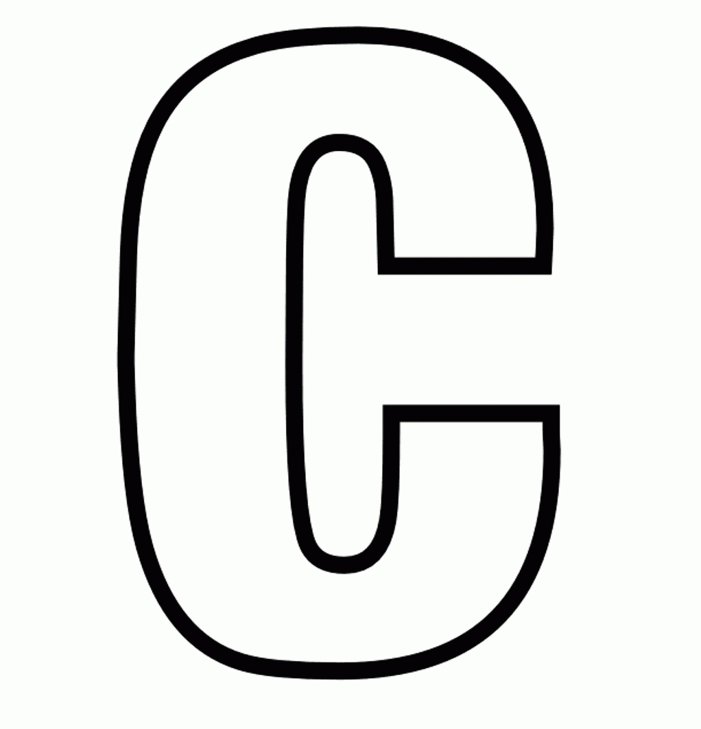 letter p coloring pages - coloring page for the letter c 1000 images about letter c on pinterest