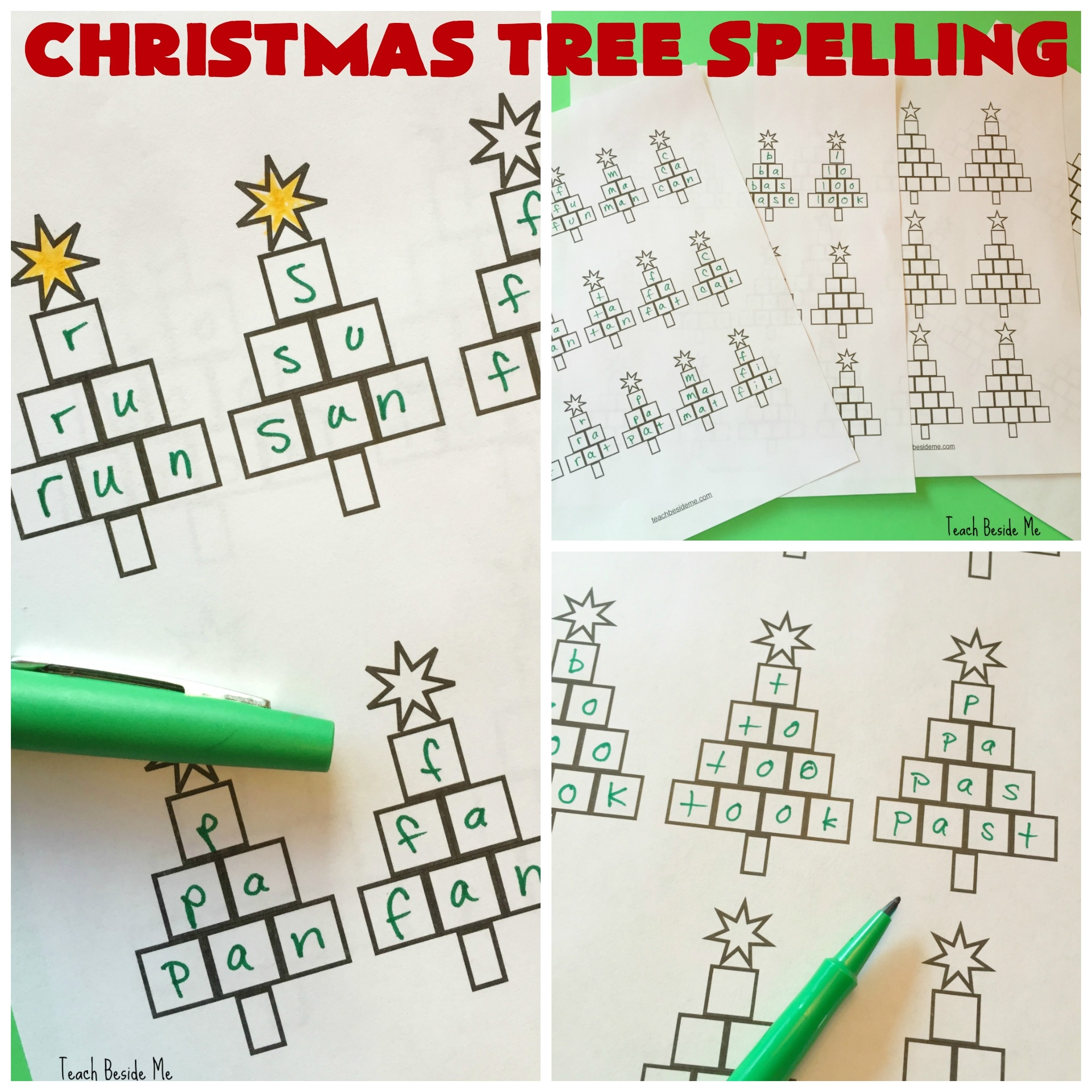 letter printable coloring pages - christmas tree spelling worksheets