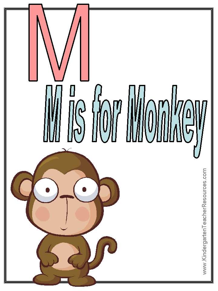 letter printable coloring pages - monkey worksheets and coloring pages