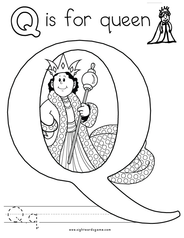 letter q coloring pages - alphabet coloring pages