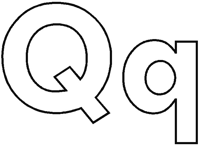 letter q coloring pages - alphabet letter q coloring sketch templates