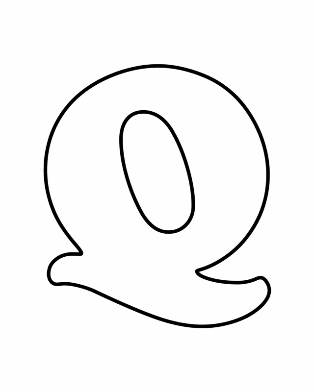 letter q coloring pages - r=letter q template