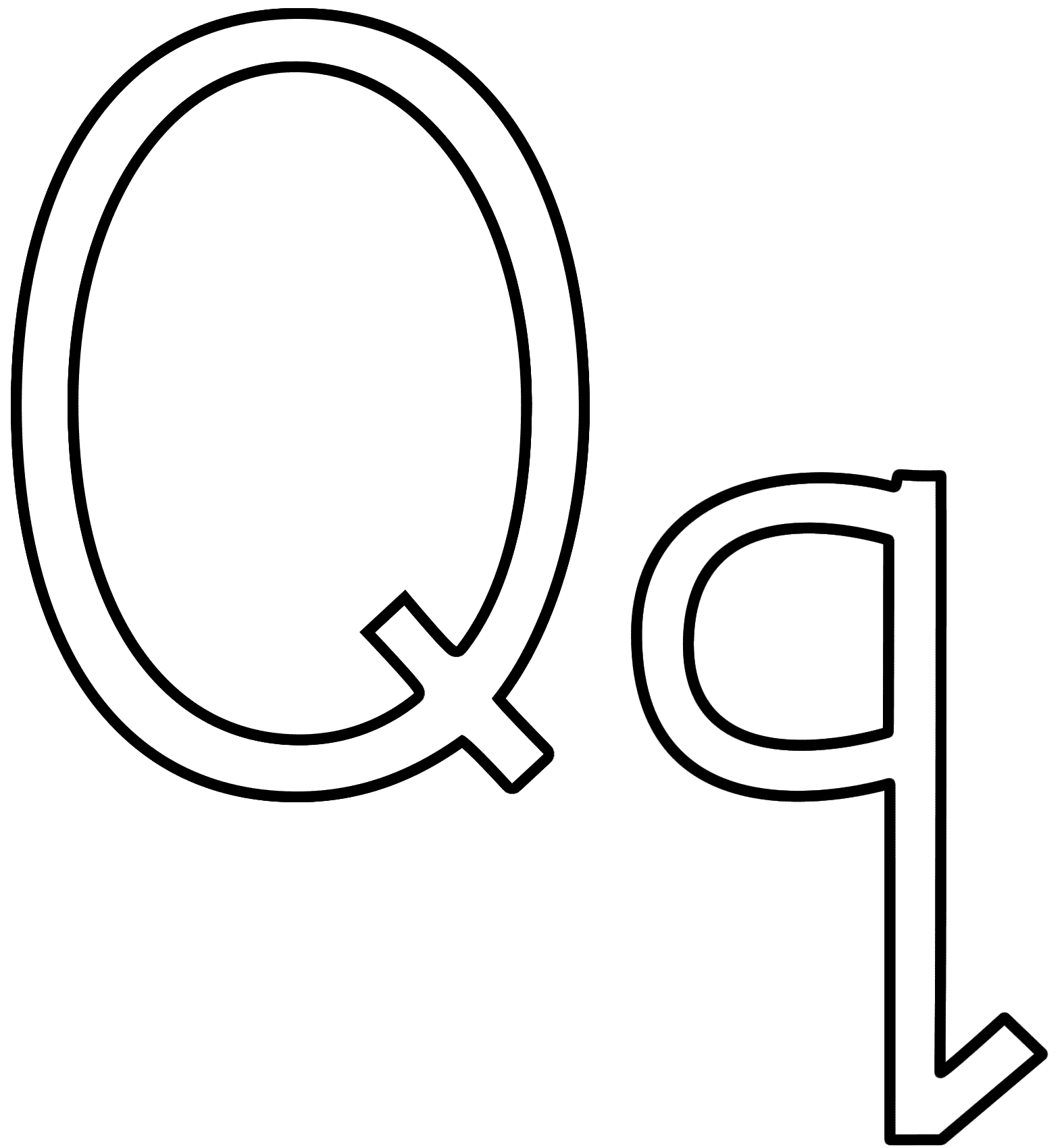 letter q coloring pages - letter q