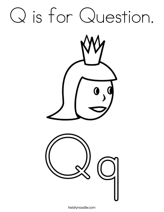 letter r coloring pages - q is for question 4 coloring page