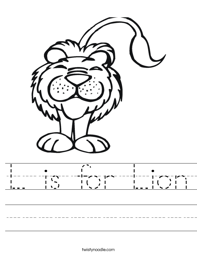 letter s coloring pages - l is for lion worksheet