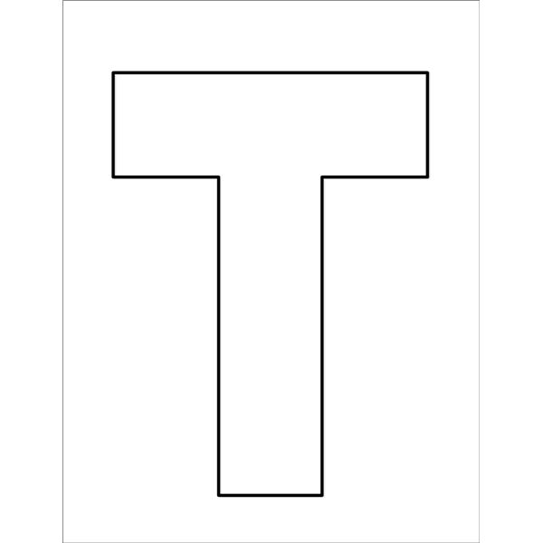 letter t coloring page - r=block letter t