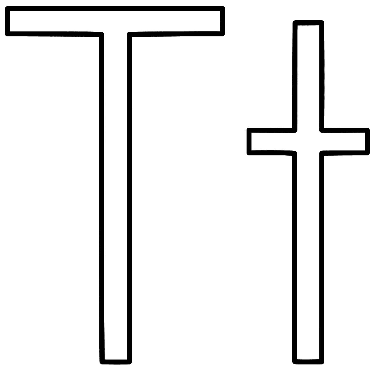 letter t coloring page - letter t