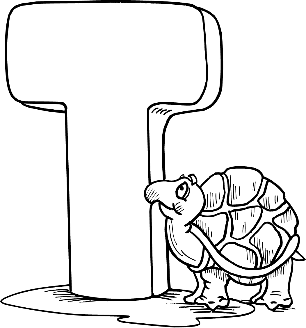 letter t coloring page - letter t printable coloring pages for preschoolers