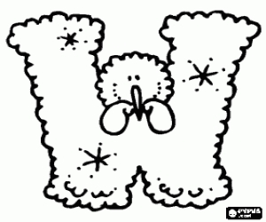 letter u coloring page - winter alphabet coloring pages 2