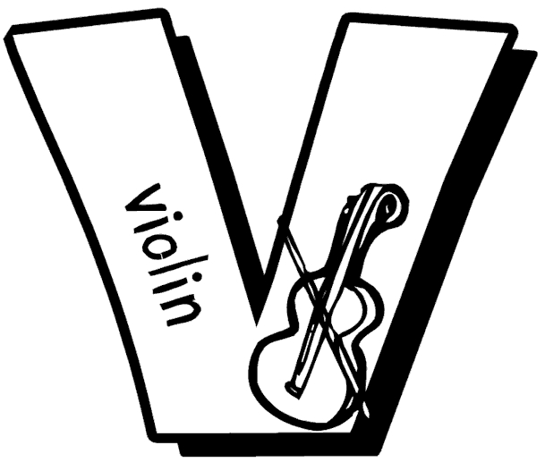 letter v coloring pages - vtml