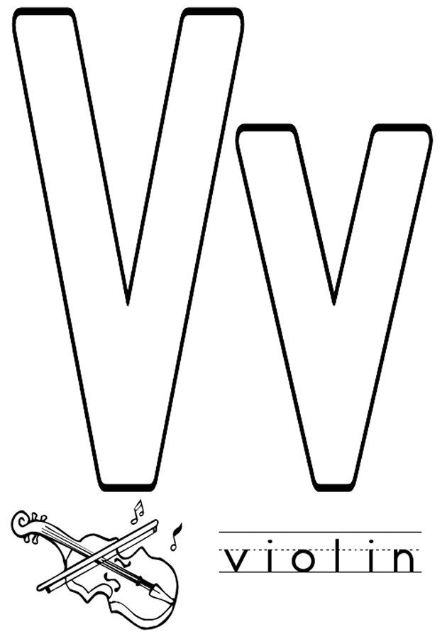 letter v coloring pages - letter v coloring pages