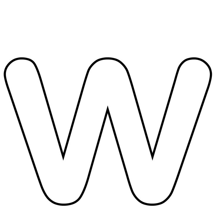 letter w coloring pages - letter w crafts