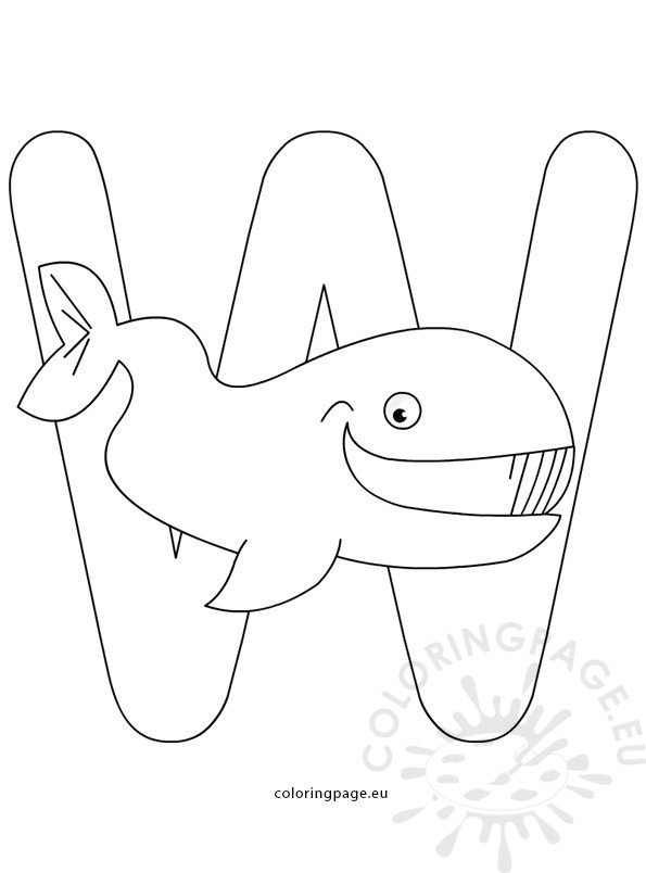 letter w coloring pages - alphabet coloring page letter w