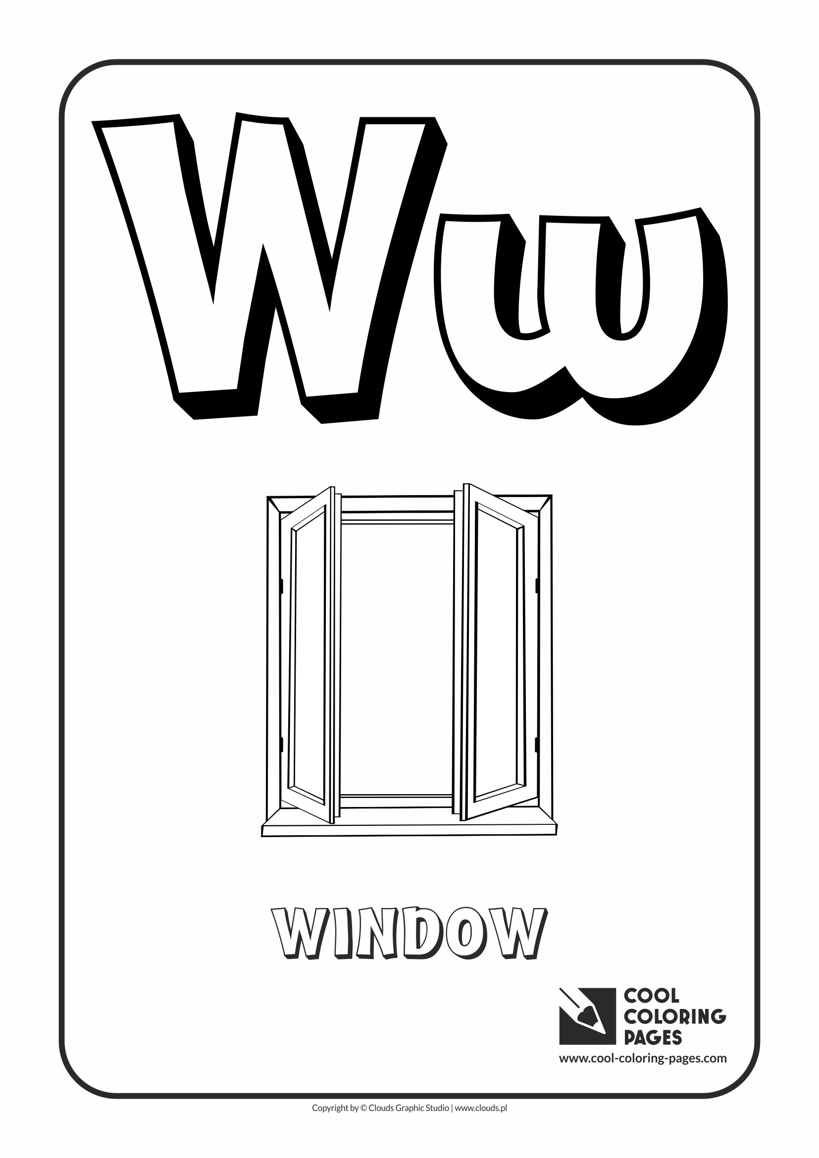 letter w coloring pages - alphabet coloring pages
