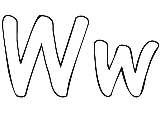 letter w coloring pages -