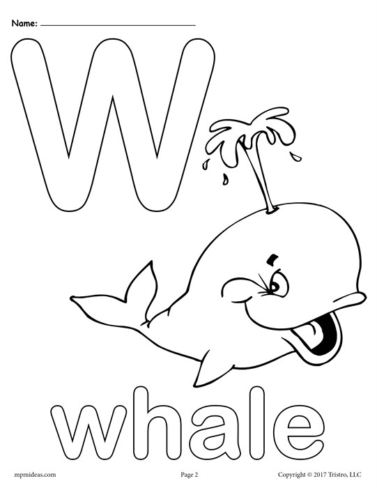 letter w coloring pages - letter w alphabet coloring pages 3 free printable versions