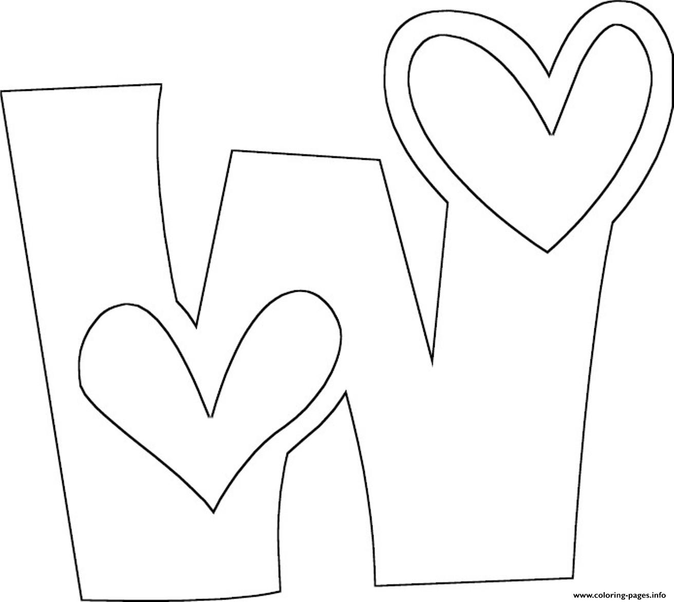 letter w coloring pages - love w free alphabet s6f30 printable coloring pages book 4728