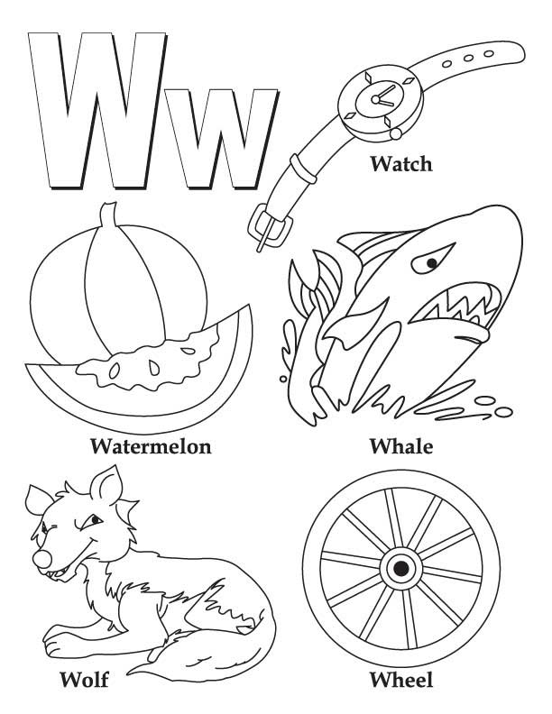 letter w coloring pages - letter w coloring pages