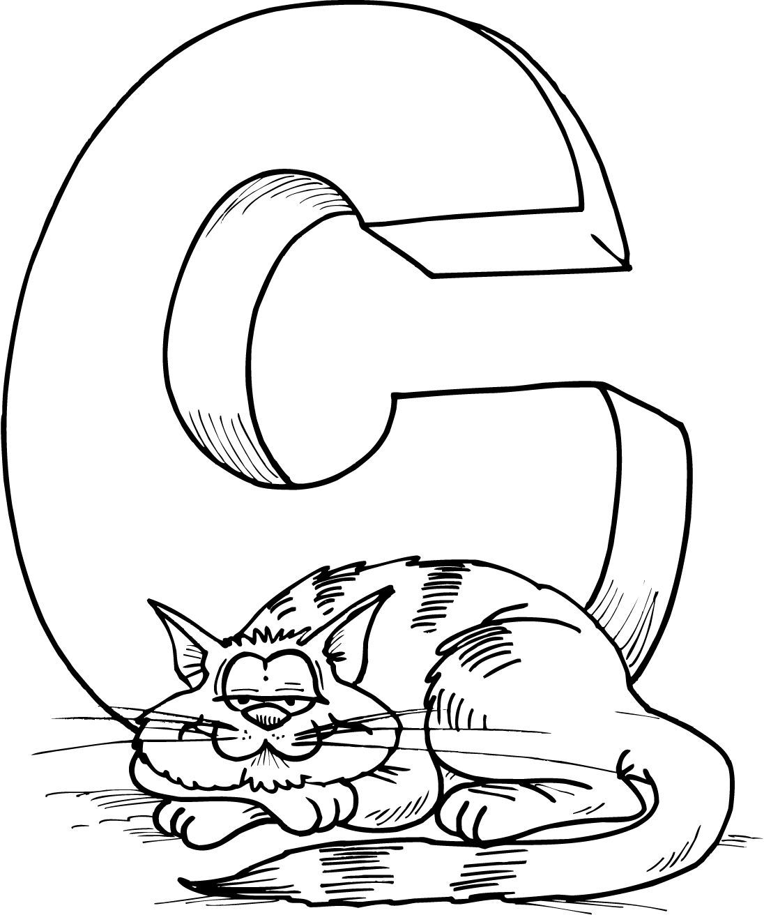 letter x coloring pages - tracing the letter c