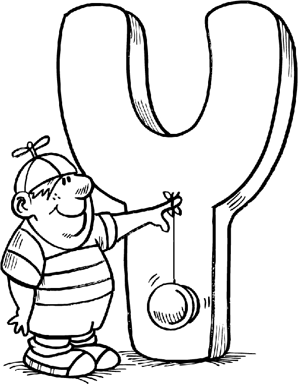 letter y coloring pages - ytml