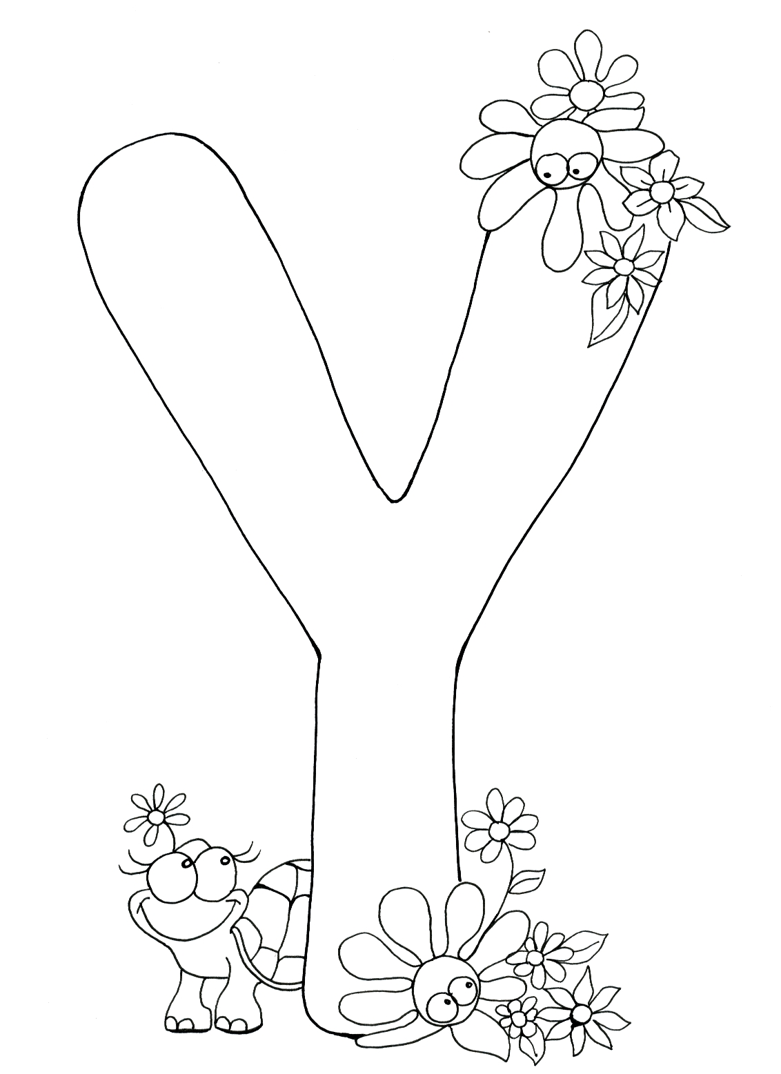 Letter Y Coloring Pages - Free Kids Coloring Pages Printable Coloring Book Pages