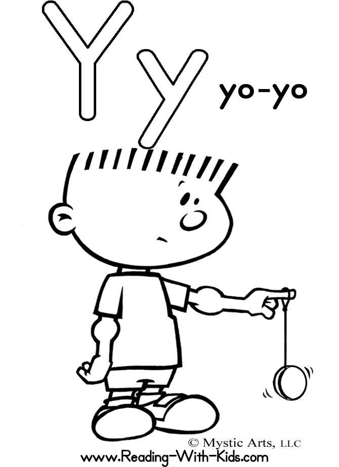 27 Letter Y Coloring Pages Pictures
