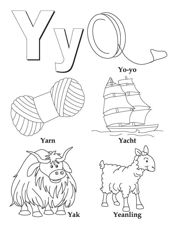 Letter Y Coloring Pages - My A to Z Coloring Book Letter Y Coloring Page