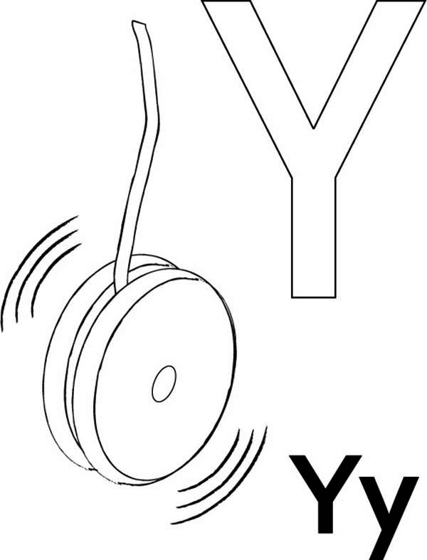 letter y coloring pages - phonics letter y song