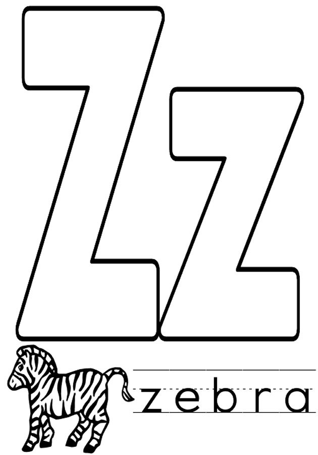 Letter Z Coloring Page - Letter Z Coloring Pages to and Print for Free