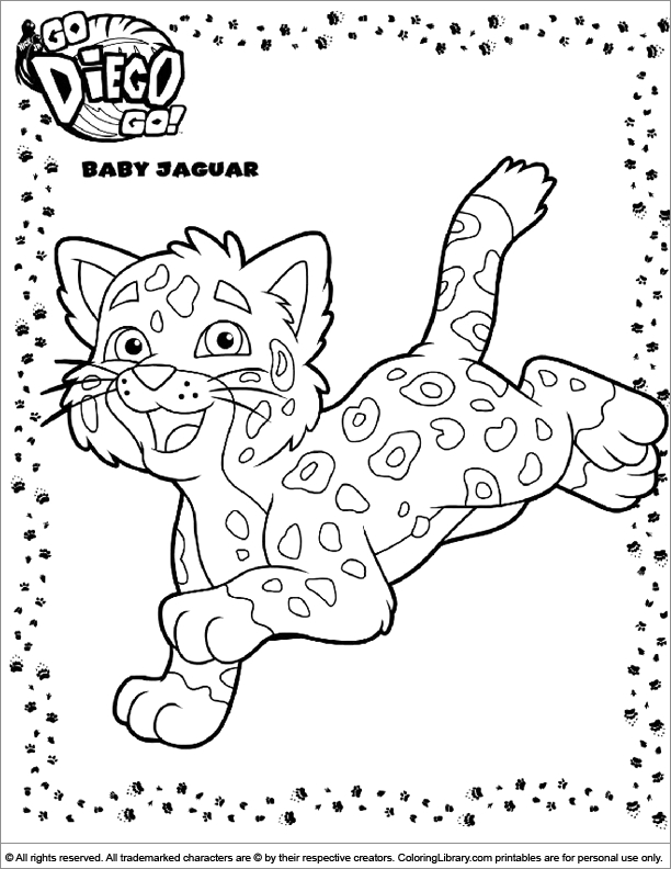 Library Coloring Pages - Go Diego Go Coloring Picture