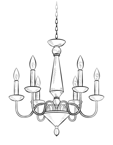light bulb coloring page - lustre