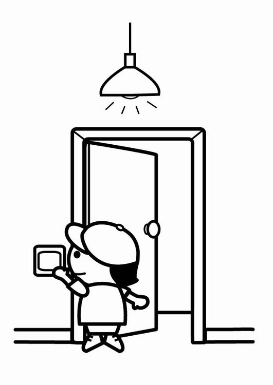 light bulb coloring page - coloring page to be energy efficient switch off the lights when leaving i