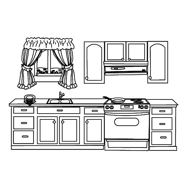 light bulb coloring page - my house kitchen coloring pages