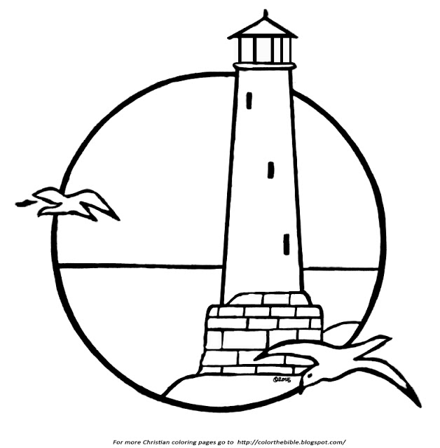 lighthouse coloring pages - a lighthouse coloring page
