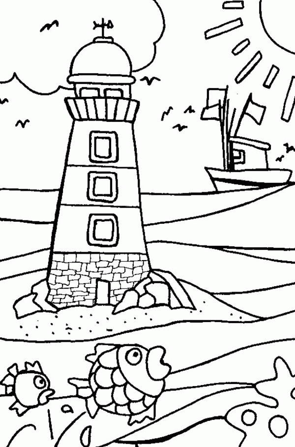 lighthouse coloring pages - lighthouse coloring page