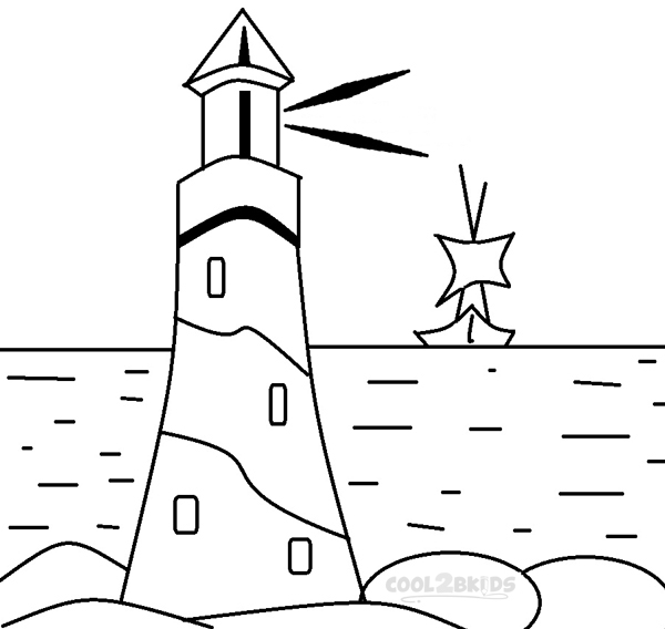 lighthouse coloring pages - lighthouse coloring pages