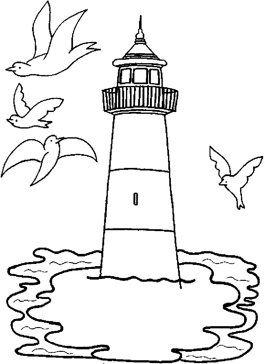 lighthouse coloring pages - printable lighthouse coloring pages