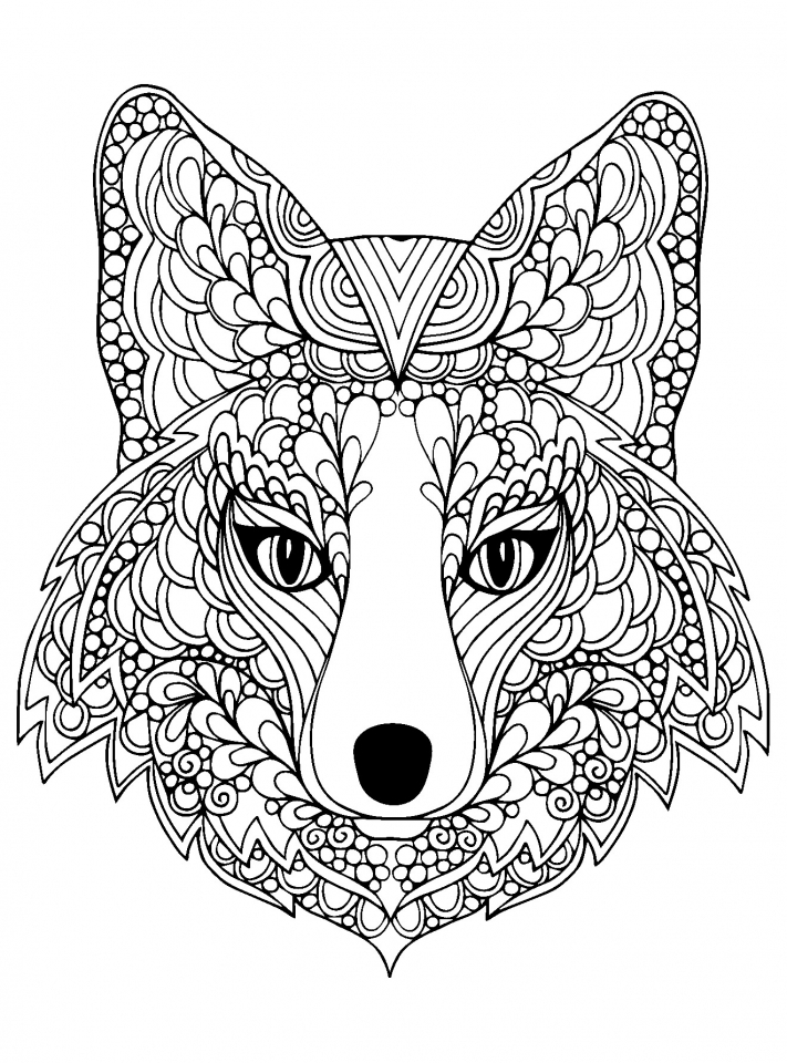 lightning mcqueen coloring pages - wolf coloring pages for adults free printable