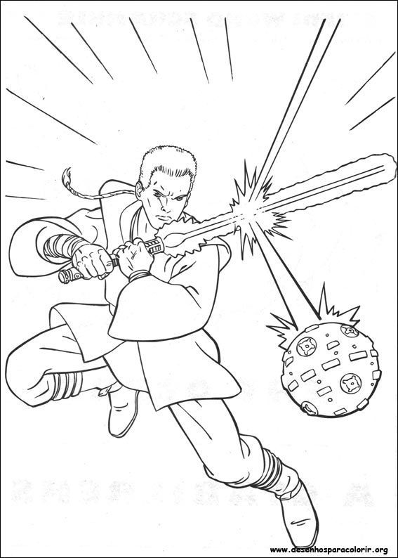 lightsaber coloring pages - guerreiro star wars