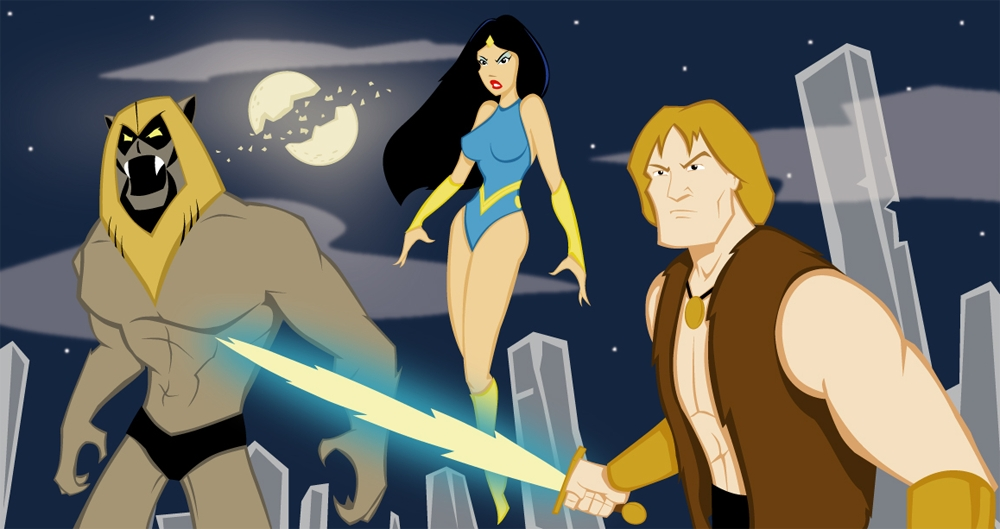 lightsaber coloring pages - Thundarr the Barbarian