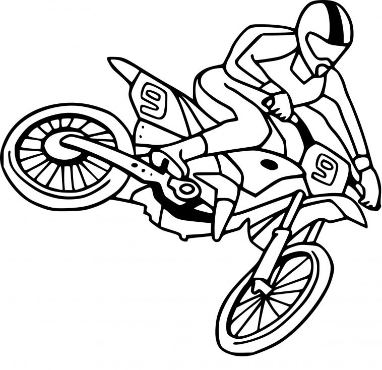 lilo and stitch coloring pages - moto cross dessin