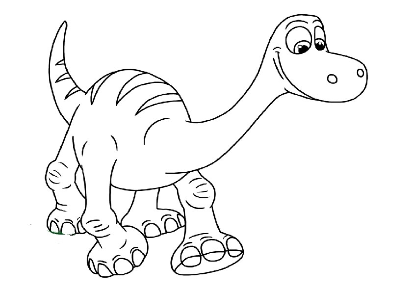 lilo and stitch coloring pages - der gute dinosaurier 25