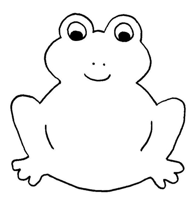 lily pad coloring page - frog shape templates