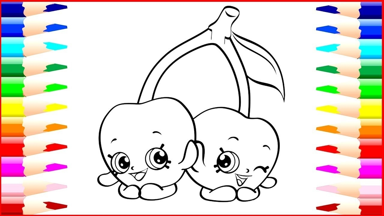 link coloring pages - cherry shopkins coloring page collections 3 2