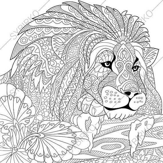 lion coloring pages for adults - coloring pages for adults
