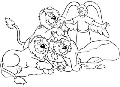 lion coloring pages - bible coloring pages for kids