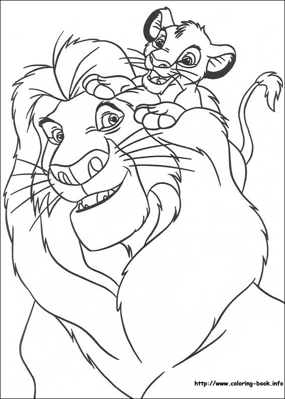 lion king coloring pages - r=mufasa and nala