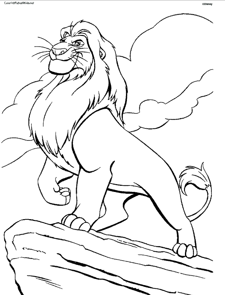 lion king coloring pages - mufasa coloring pages