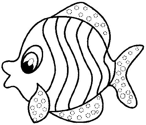 lips coloring page - fish template